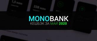 Монобанк категории кешбэка на май 2020